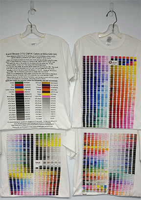 New DTG Color Charts Now Available