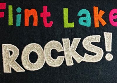 Embroidery & Glitter Vinyl combo spirit-wear design